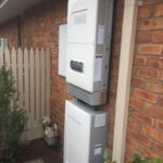 solar power inverter and battery, Horsham